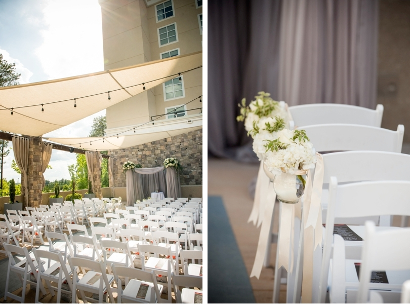 Wedding ceremony at Embassy Suites Raleigh