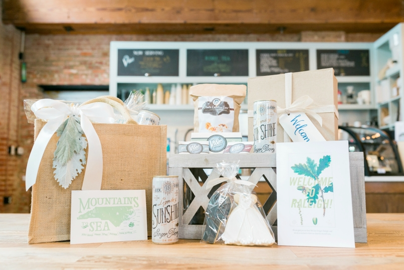 Custom wedding welcome packages