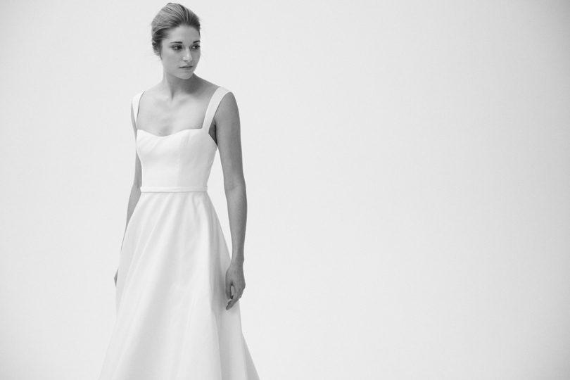 Amsale Bleecker wedding gown with straps