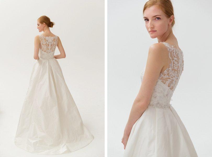Amsale Lane wedding dress with lace back