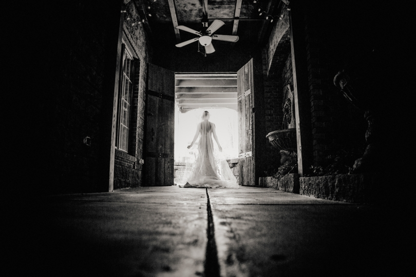 Black and white wedding photography NC
