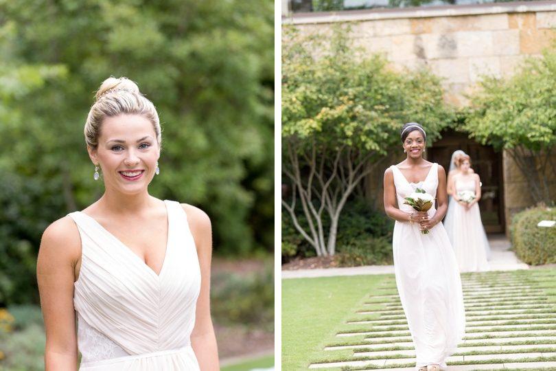 Blush bridesmaid dresses from Alexias bridal boutique
