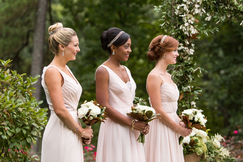 Blush bridesmaids dresses from Alexias Bridal