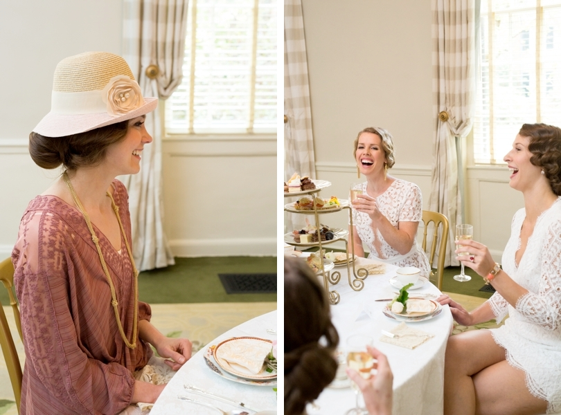 Downton Abbey bridesmaids luncheon at The Carolina Inn