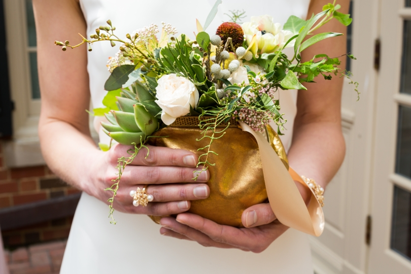 Gold clutches for bridesmaids