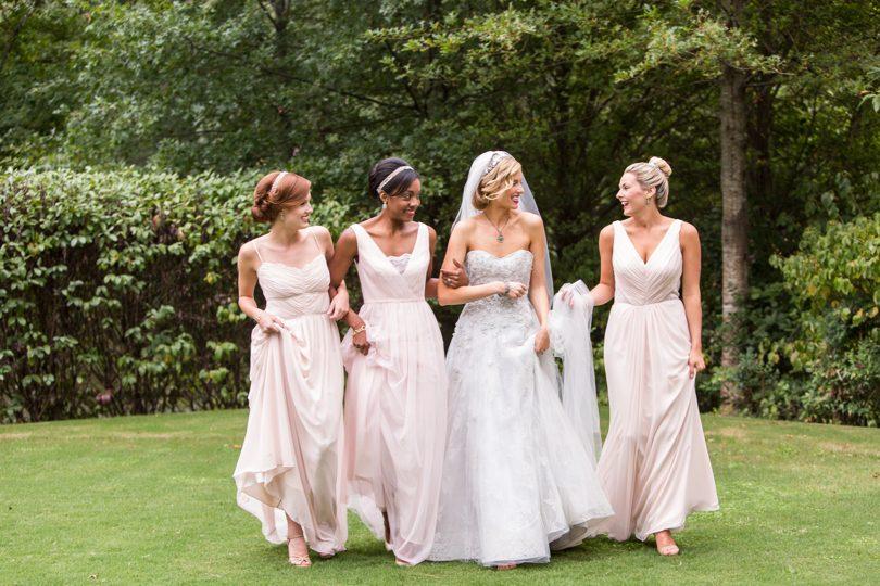 Monique Lhuillier bridesmaid gowns