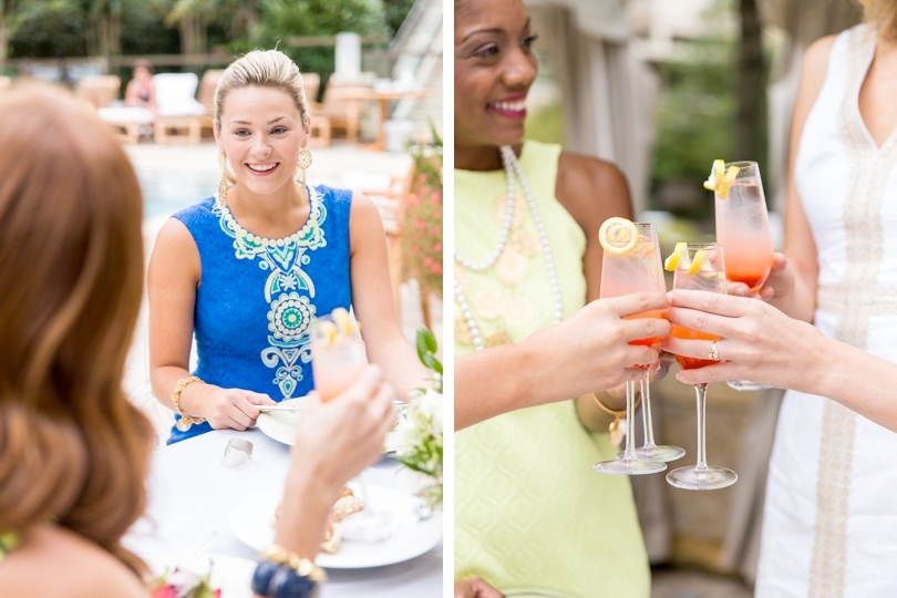 Outdoor bridal luncheon at Umstead Hotel gardens