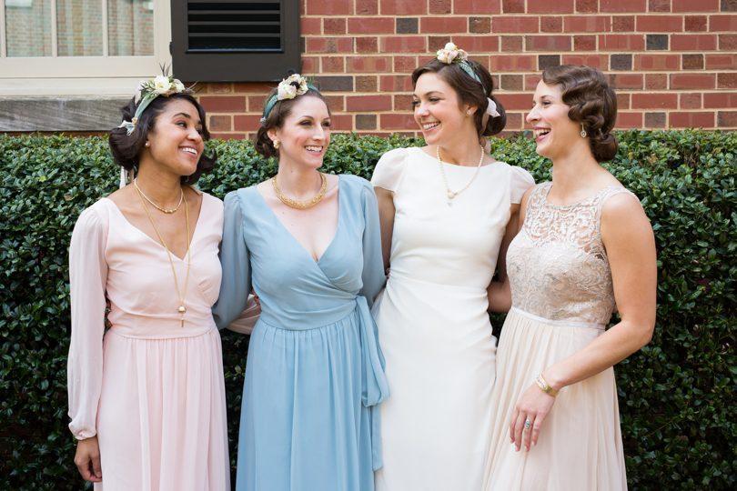 Pastel bridesmaids dresses from Bella Bridesmaids