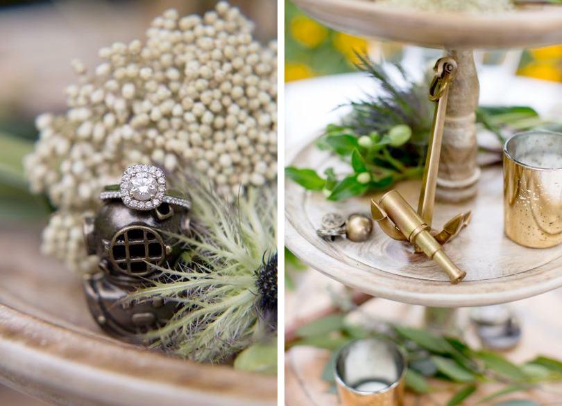 Romantic and rustic beach themed wedding