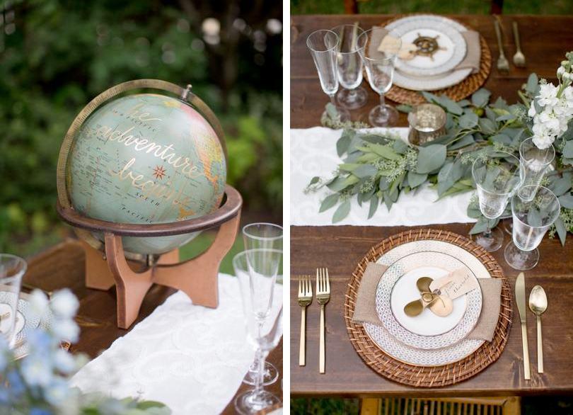 Rustic and nautical Southern wedding theme