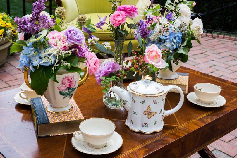 Vintage Downton Abbey tablescape