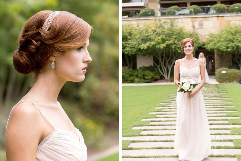 Vintage bridesmaid dresses in blush