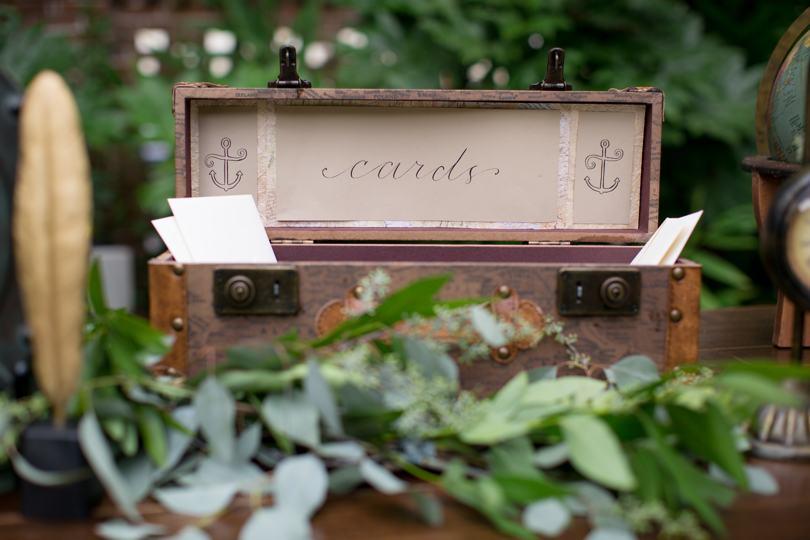 Vintage card holder for wedding