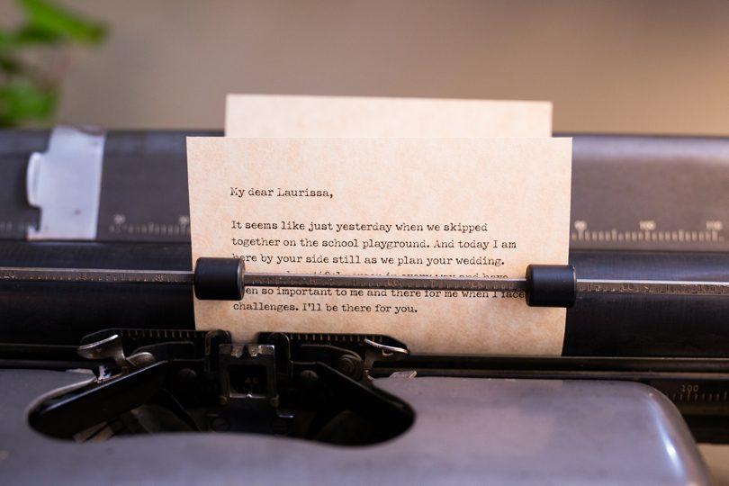 Vintage typewriter decor