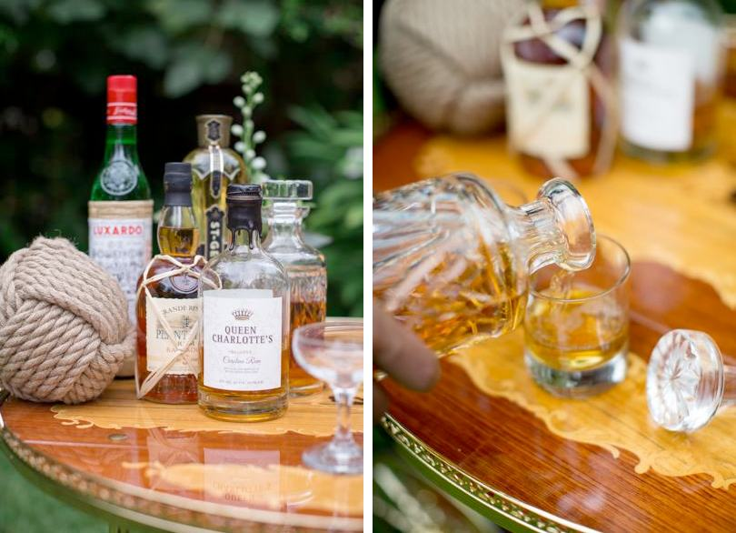 Whiskey table during cocktail reception
