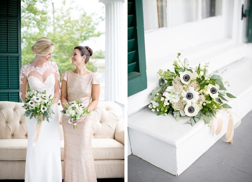 White poppy bridal bouquets Fiore Fine Flowers