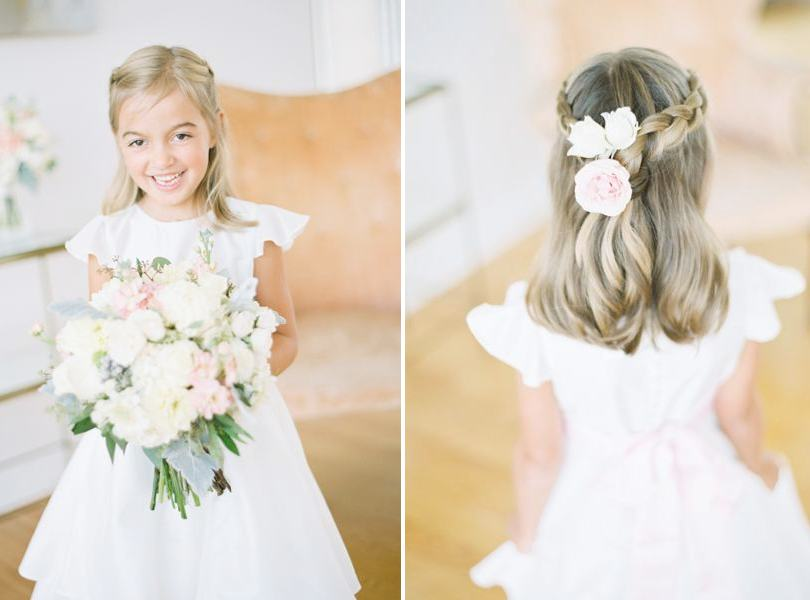 Cute flower girl outfits and hairstyles