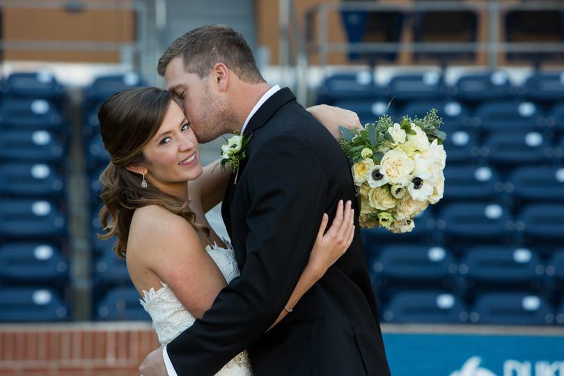 Durham Bulls Athletic Park wedding photos