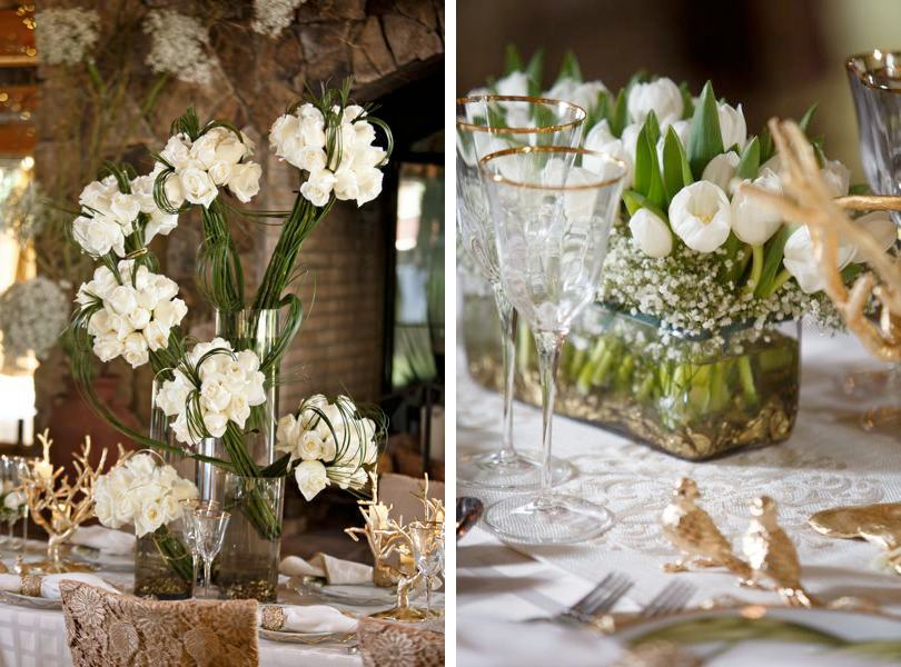 Floral centerpieces from Raleigh Florist