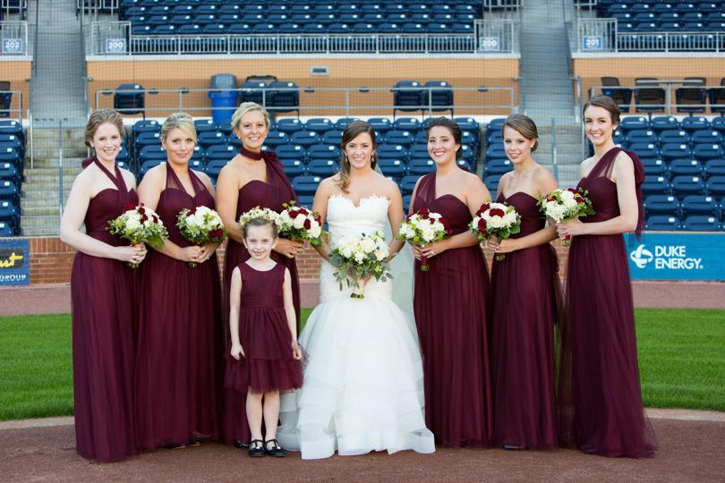 Jenny Yoo marsala bridesmaid dresses