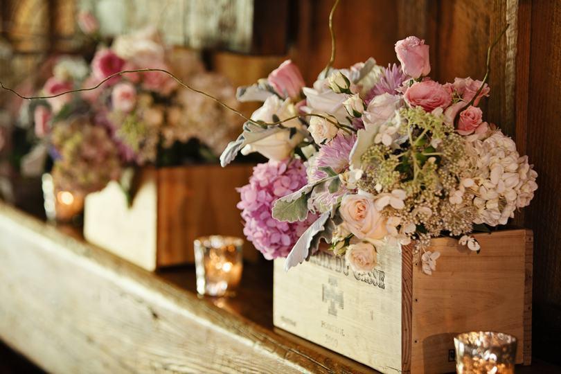 Rustic romantic wedding flower inspiration