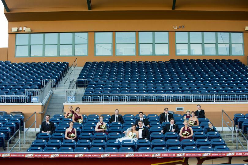 Sports themed wedding photos in North Carolina