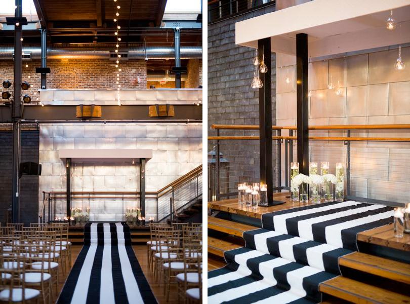 Wedding ceremony held at Bay 7 in Durham NC