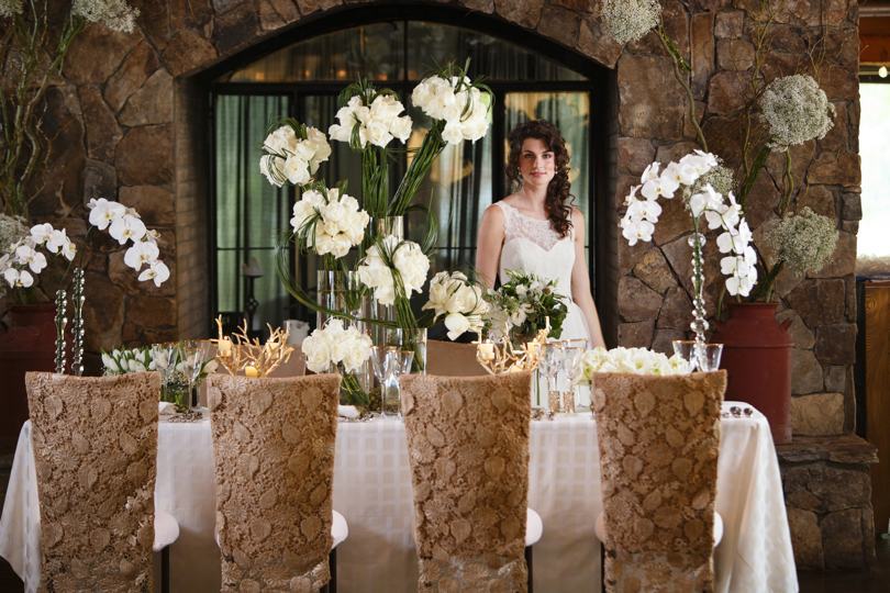 Wedding decor at The Angus Barn Pavilions