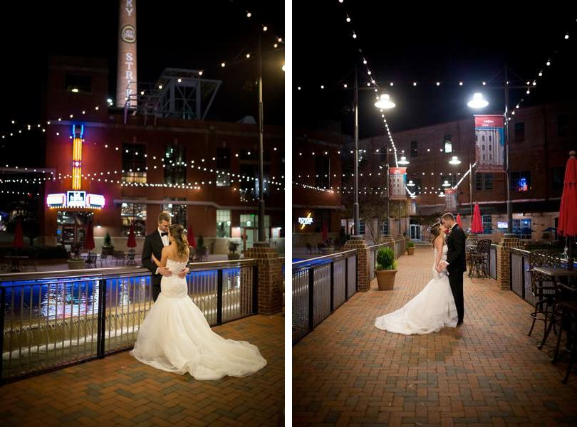 Wedding pictures at American Tobacco Campus