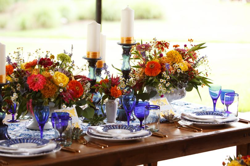Centerpieces by Raleigh Florits Catering Works