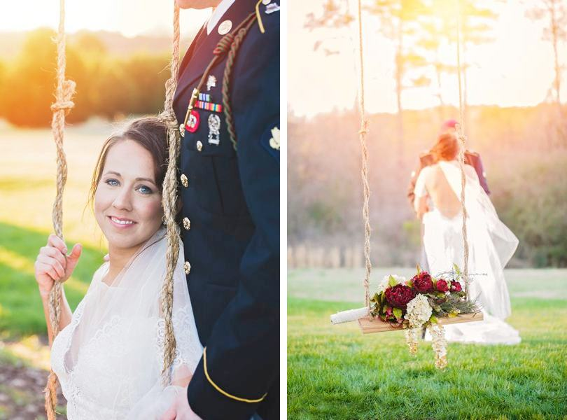 Outdoor wedding photographs in NC