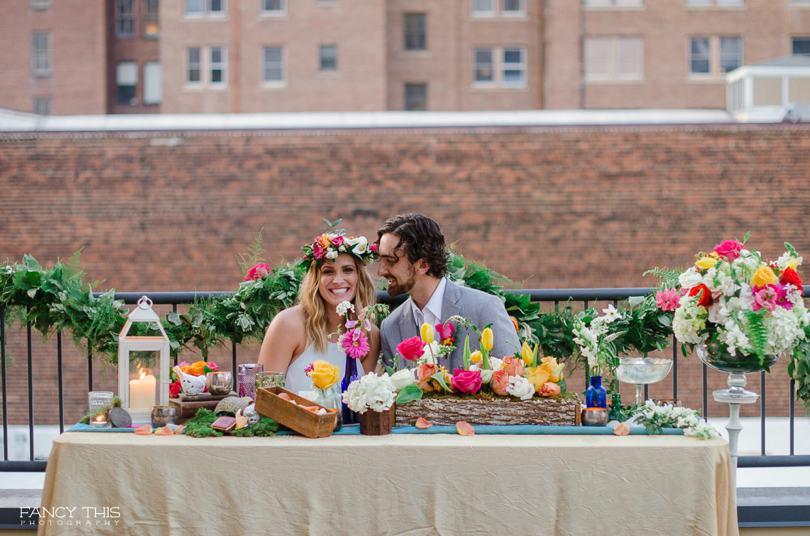 Bohemian themed wedding styled shoot