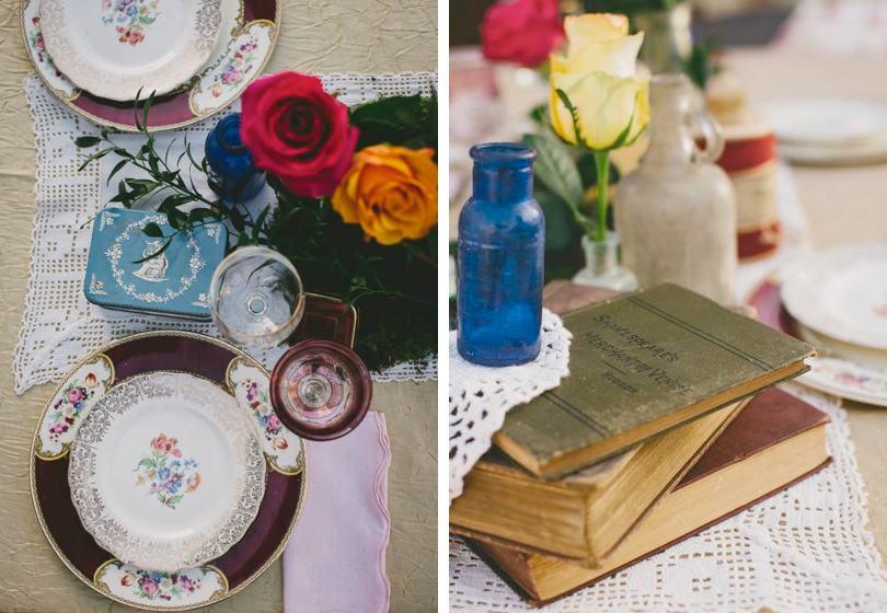 Bohemian vintage wedding inspiration