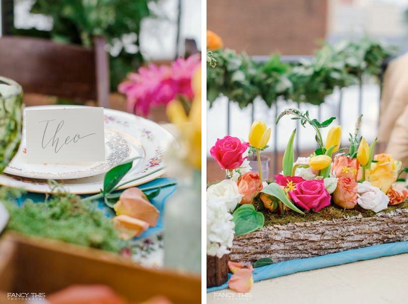Colorful bohemian wedding