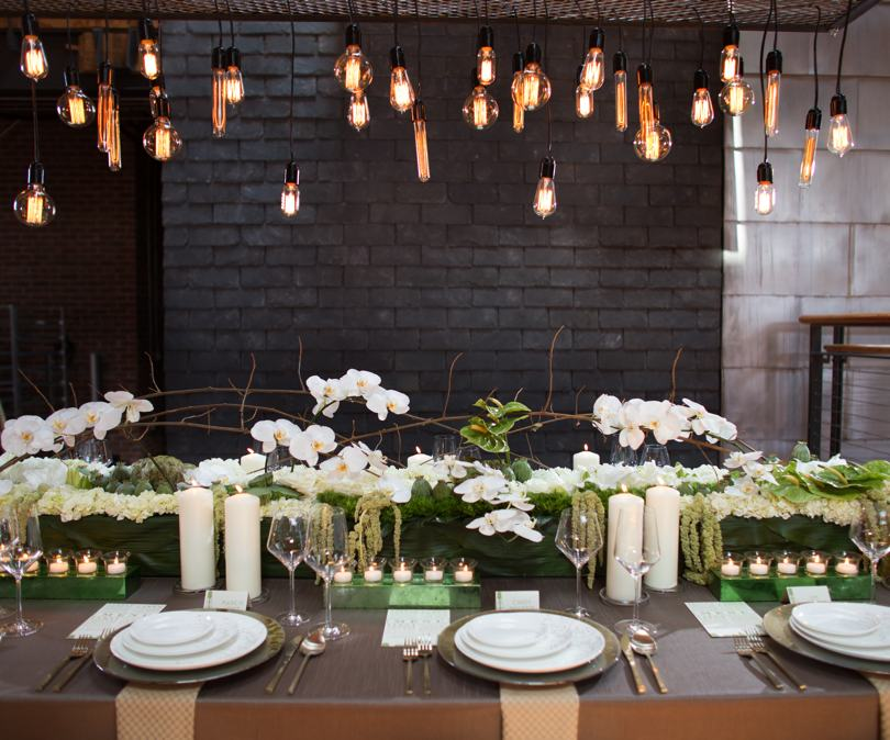 Get Lit edison bulb wedding chandeliers