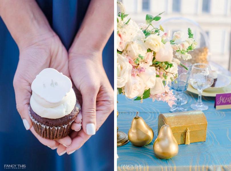 Gold wedding details