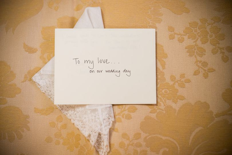 Love notes from the bride and groom