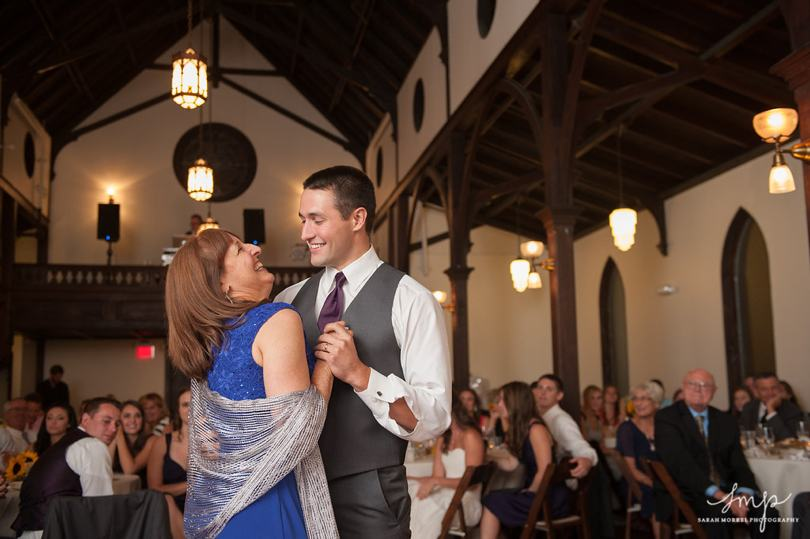 Mother son dance at Raleigh wedding