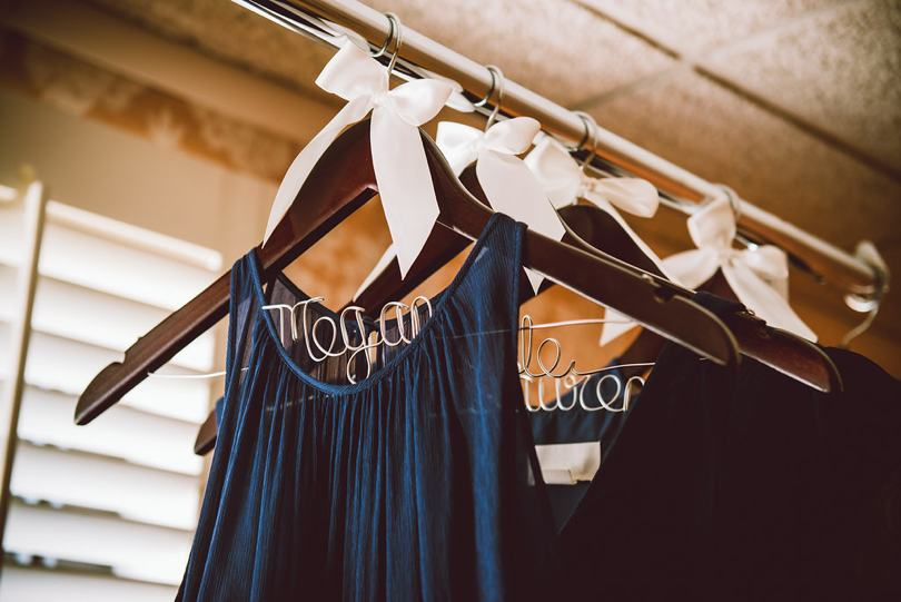Personalized bridesmaid dress hangers