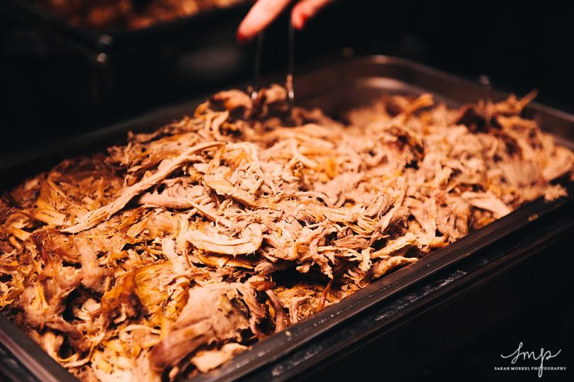 Southern barbecue buffet for wedding food