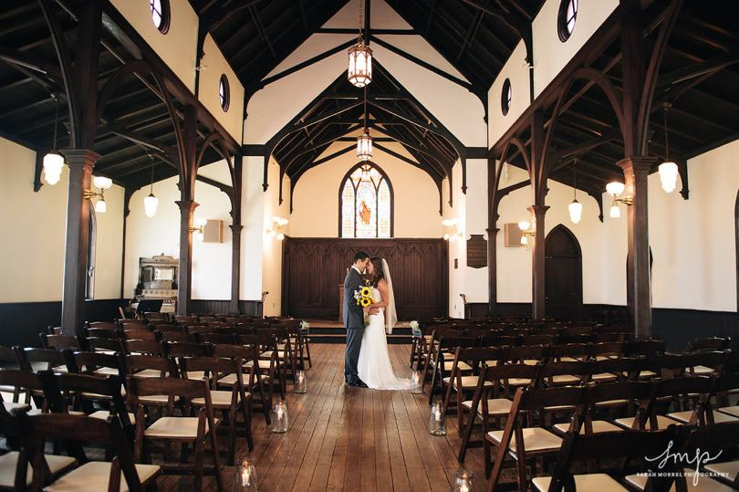wedding ceremony at All Saints Chapel