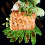 Healthy Salmon meal with Greens by Chapel Hill Caterer CHRG Catering