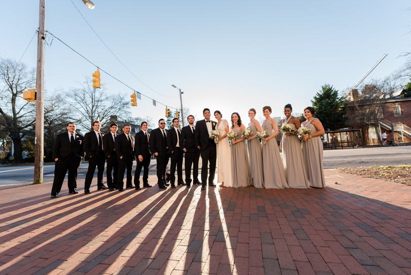 Downtown Chapel Hill wedding