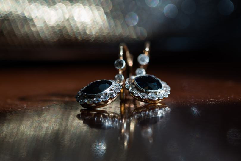 Family heirloom wedding earrings
