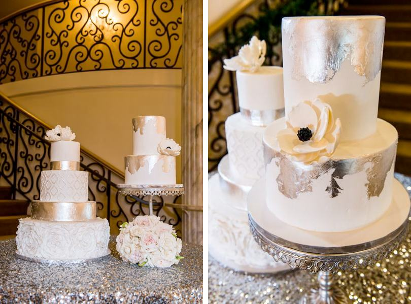 wedding-cake-with-mettalic-foil