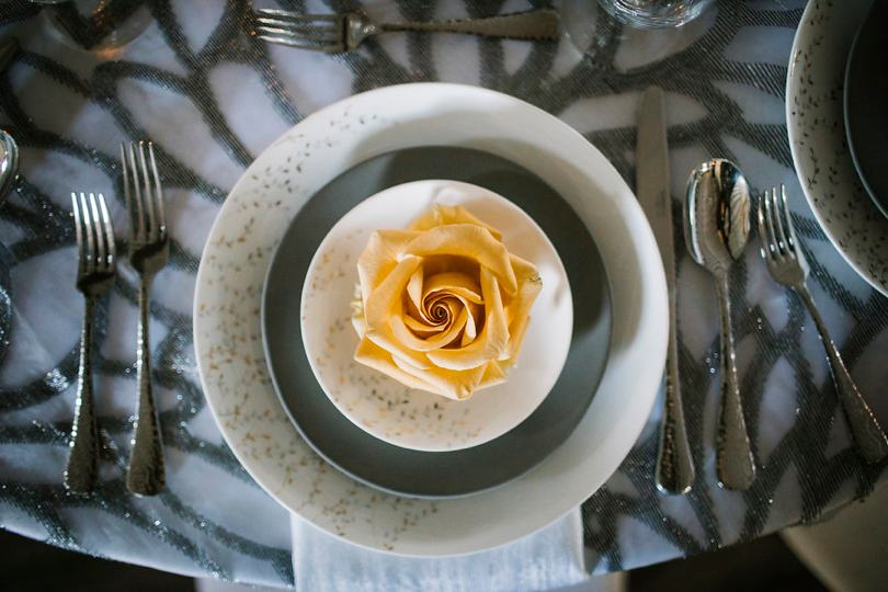 Roses used in wedding decor