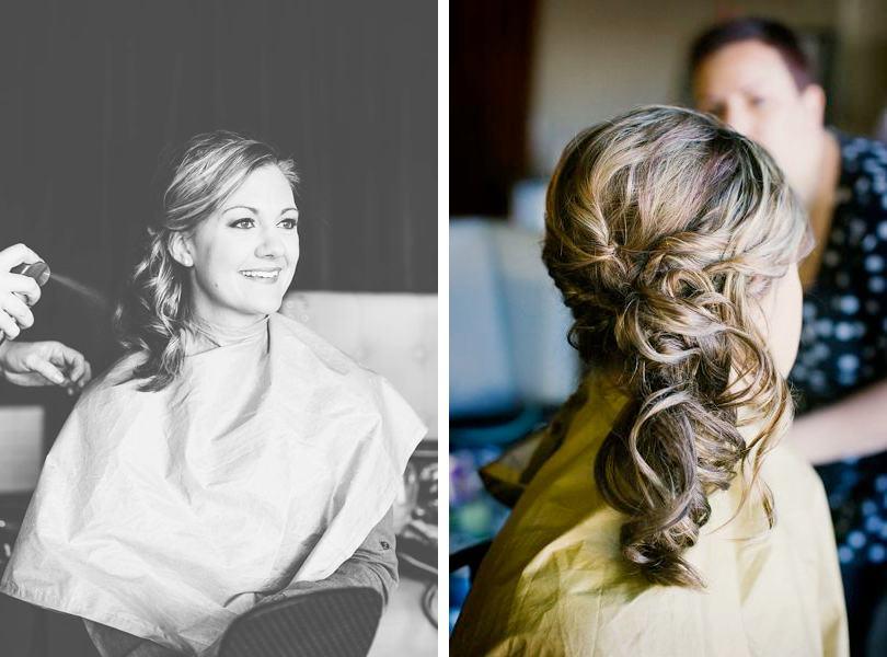 Side ponytail wedding hairstyle