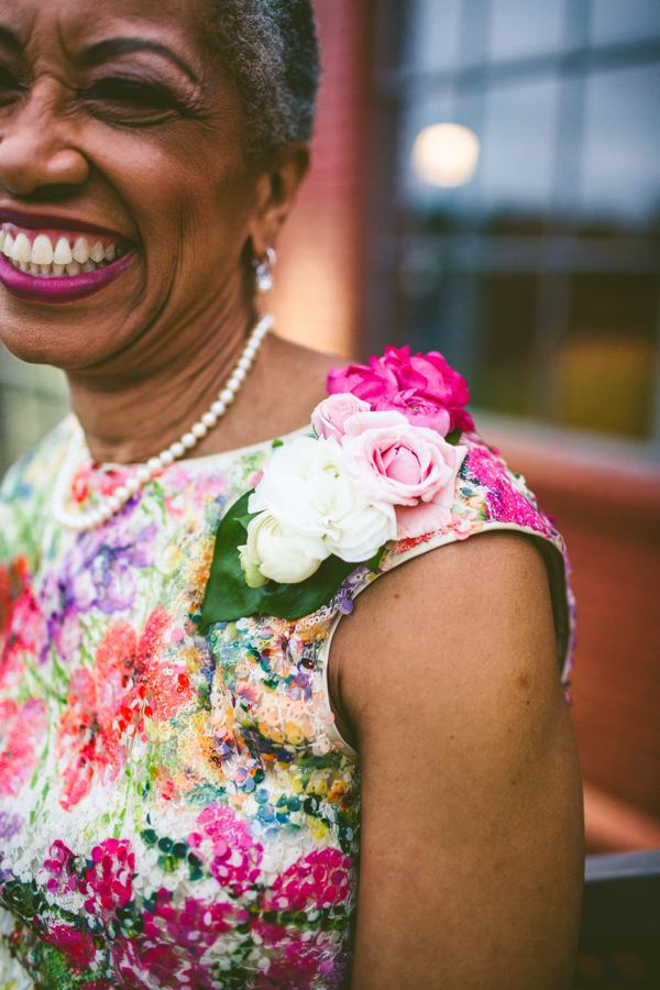 colorful corsages for wedding guests