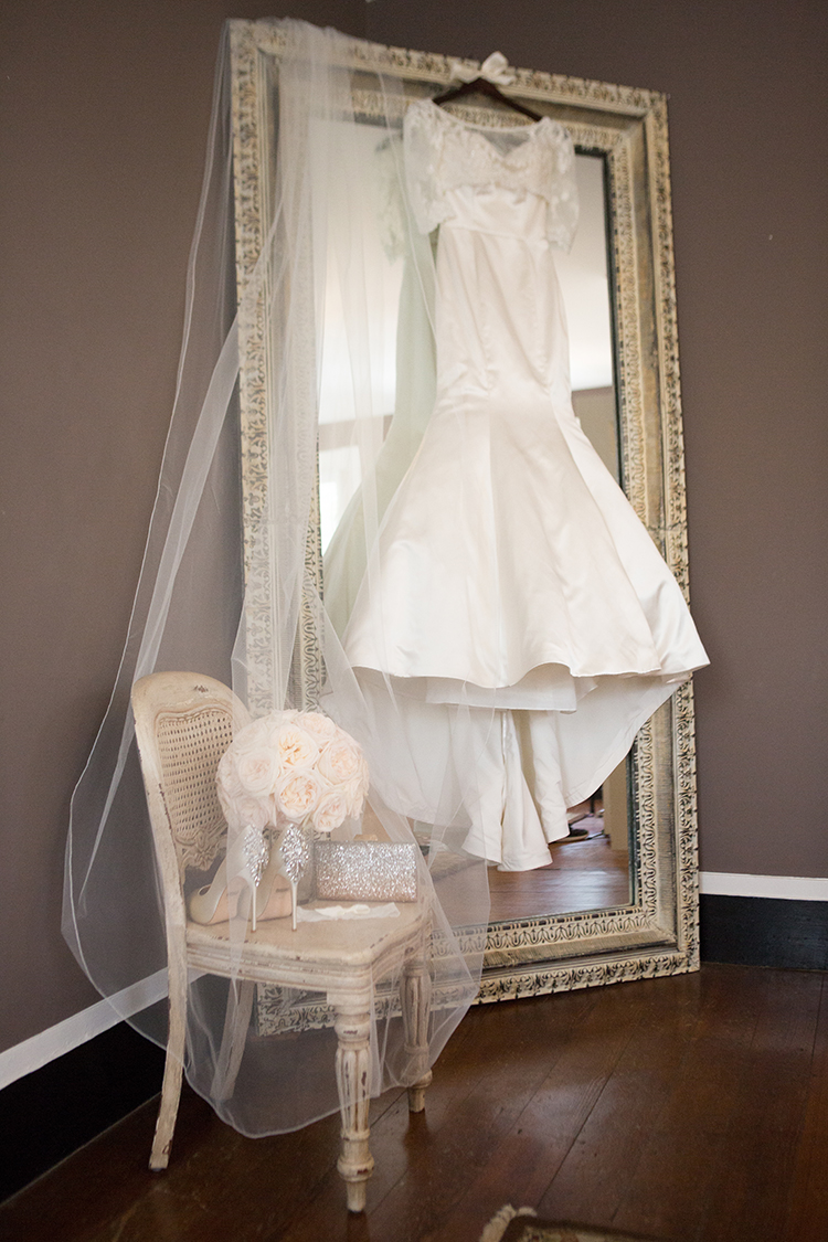 Dress on Mirror, Southern Wedding