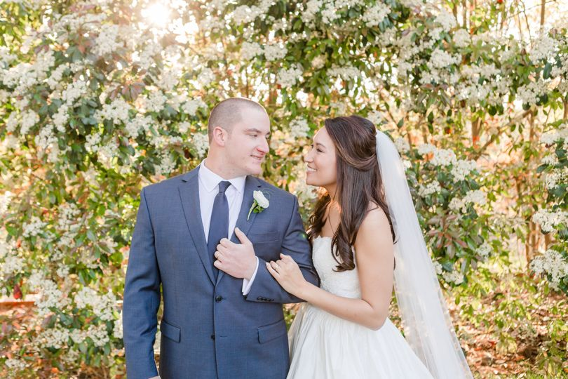 Spring Flowers at Highgrove Estate make a perfect wedding portrait by Jamie Blow